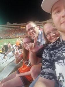 Roy attended Oklahoma State University Cowboys vs. Missouri State - NCAA Football on Aug 30th 2018 via VetTix