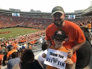 Russ attended Oklahoma State University Cowboys vs. Missouri State - NCAA Football on Aug 30th 2018 via VetTix