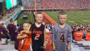 SSGT Chuck Boso attended Oklahoma State University Cowboys vs. Missouri State - NCAA Football on Aug 30th 2018 via VetTix