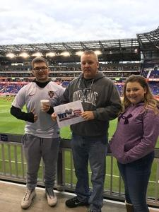 Robert Powell Sr. attended New York Red Bulls vs. Orlando City SC - MLS on Oct 28th 2018 via VetTix