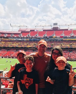 Krystle attended Texas Longhorns vs. Maryland Terrapins - NCAA Football on Sep 1st 2018 via VetTix