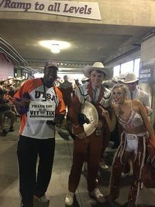 Mario attended Texas Longhorns vs. Maryland Terrapins - NCAA Football on Sep 1st 2018 via VetTix