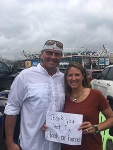 Winston attended Texas Longhorns vs. Maryland Terrapins - NCAA Football on Sep 1st 2018 via VetTix