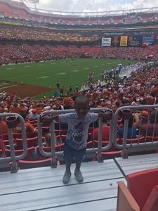 Cashala attended Texas Longhorns vs. Maryland Terrapins - NCAA Football on Sep 1st 2018 via VetTix