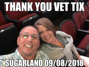 Eugene attended Sugarland - Country on Sep 8th 2018 via VetTix