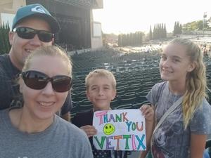 James attended Evanescence + Lindsey Stirling - Alternative Rock on Aug 31st 2018 via VetTix