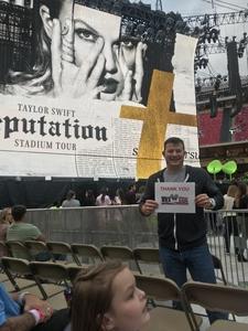 Alan attended Taylor Swift Reputation Stadium Tour - Pop on Sep 8th 2018 via VetTix