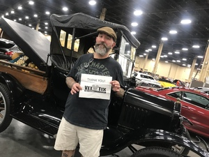 Bob attended Barrett Jackson - the World's Greatest Collector Car Auction in Vegas - Tickets Are 2 for 1, So 1 Ticket Will Get 2 People in - Thursday on Sep 27th 2018 via VetTix