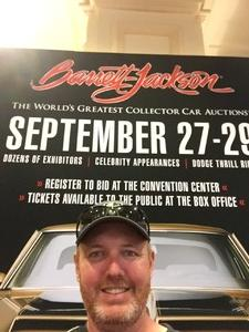 Timothy attended Barrett Jackson - the World's Greatest Collector Car Auction in Vegas - Tickets Are 2 for 1, So 1 Ticket Will Get 2 People in - Saturday on Sep 29th 2018 via VetTix
