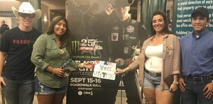 Jenn, Cecilia and Chance attended 25th PBR Unleash the Beast - Sunday on Sep 16th 2018 via VetTix