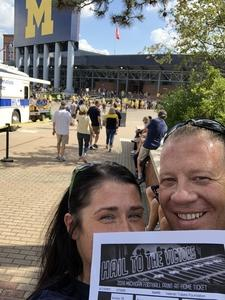 Anthony attended University of Michigan Wolverines vs. SMU Mustangs - NCAA Football on Sep 15th 2018 via VetTix