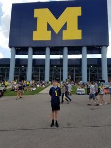 Michael attended University of Michigan Wolverines vs. SMU Mustangs - NCAA Football on Sep 15th 2018 via VetTix
