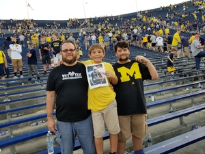 Matthew attended University of Michigan Wolverines vs. SMU Mustangs - NCAA Football on Sep 15th 2018 via VetTix