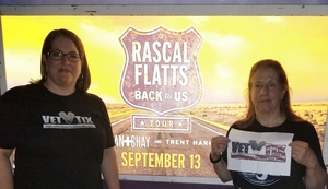 Esther attended Rascal Flatts: Back to US Tour 2018 - Country on Sep 13th 2018 via VetTix