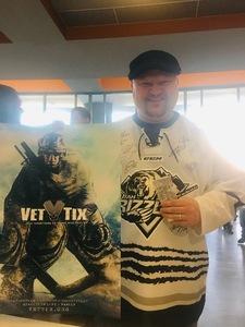 Jeromy attended Utah Grizzlies vs. Rapid City - ECHL - Home Opener - Regular Tickets on Oct 12th 2018 via VetTix