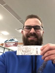 Jordon attended Utah Grizzlies vs. Rapid City - ECHL - Home Opener - Regular Tickets on Oct 12th 2018 via VetTix
