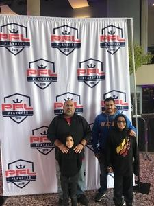 John attended Pfl9 - 2018 Playoffs - Tracking Attendance - Live Mixed Martial Arts - Presented by Professional Fighters League on Oct 13th 2018 via VetTix