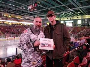 David attended Utah Grizzlies vs. Kansas City Mavericks - ECHL - Fight Cancer Night on Feb 16th 2019 via VetTix