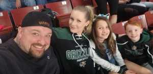 Christopher attended Utah Grizzlies vs Idaho - ECHL - Fan Appreciation Night - Regular Tickets on Apr 6th 2019 via VetTix