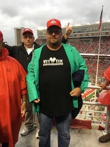 Thomas attended Ohio State Buckeyes vs. Rutgers Scarlet Knights - NCAA Football on Sep 8th 2018 via VetTix