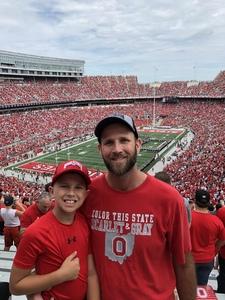 Travis attended Ohio State Buckeyes vs. Rutgers Scarlet Knights - NCAA Football on Sep 8th 2018 via VetTix