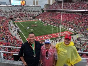 Jerry attended Ohio State Buckeyes vs. Rutgers Scarlet Knights - NCAA Football on Sep 8th 2018 via VetTix