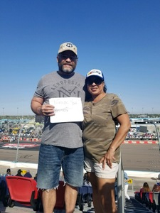 Ramon attended Can-am 500 - Ism Raceway on Nov 11th 2018 via VetTix