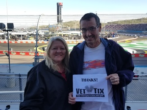 Greg attended Can-am 500 - Ism Raceway on Nov 11th 2018 via VetTix