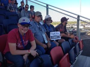 David attended Can-am 500 - Ism Raceway on Nov 11th 2018 via VetTix