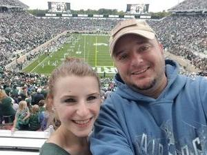 John W. attended Michigan State Spartans vs. NWU Wildcats - NCAA Football on Oct 6th 2018 via VetTix