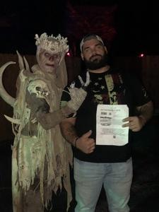 Jesse McMillian attended Netherworld Haunted House - Good for Specific Days Only - Please Read Below on Oct 7th 2018 via VetTix