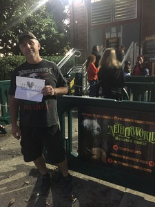 Steven attended Netherworld Haunted House - Good for Specific Days Only - Please Read Below on Oct 7th 2018 via VetTix