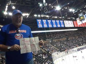 arthur attended New York Islanders vs. Philadelphia Flyers - NHL on Sep 16th 2018 via VetTix