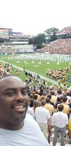 LeMario attended Georgia Tech vs. Clemson - NCAA Football on Sep 22nd 2018 via VetTix