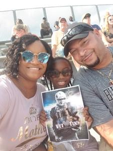 Perrisha attended Georgia Tech vs. Clemson - NCAA Football on Sep 22nd 2018 via VetTix