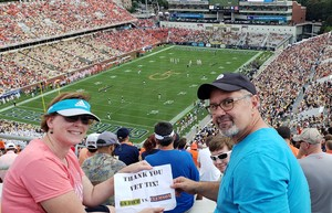 Chris attended Georgia Tech vs. Clemson - NCAA Football on Sep 22nd 2018 via VetTix
