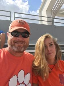 Thomas attended Georgia Tech vs. Clemson - NCAA Football on Sep 22nd 2018 via VetTix