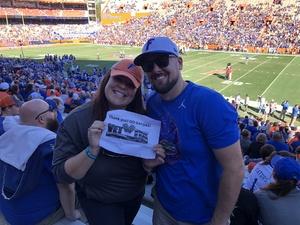 Amy attended Florida Gators vs. Idaho Vandals - NCAA Football on Nov 17th 2018 via VetTix