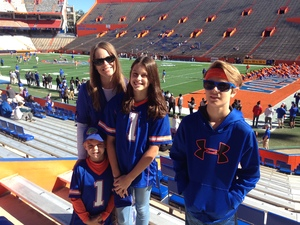 Adam attended Florida Gators vs. Idaho Vandals - NCAA Football on Nov 17th 2018 via VetTix