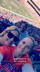 Carlie attended Florida Gators vs. Idaho Vandals - NCAA Football on Nov 17th 2018 via VetTix
