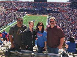 Candace attended Florida Gators vs. Idaho Vandals - NCAA Football on Nov 17th 2018 via VetTix
