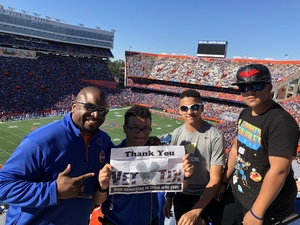 Susie attended Florida Gators vs. Idaho Vandals - NCAA Football on Nov 17th 2018 via VetTix