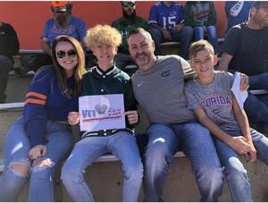 David attended Florida Gators vs. Idaho Vandals - NCAA Football on Nov 17th 2018 via VetTix