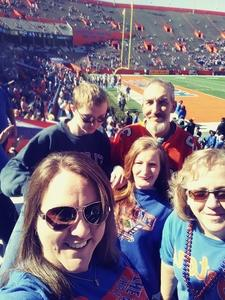 Tina attended Florida Gators vs. Idaho Vandals - NCAA Football on Nov 17th 2018 via VetTix
