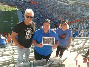 Bob attended Florida Gators vs. Idaho Vandals - NCAA Football on Nov 17th 2018 via VetTix