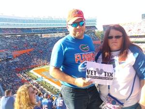 Adam attended Florida Gators vs. Idaho Vandals - NCAA Football on Nov 17th 2018 via VetTix