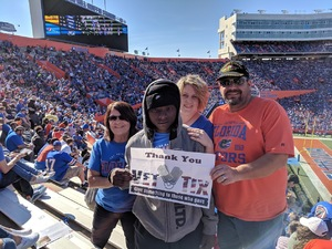 Joseph attended Florida Gators vs. Idaho Vandals - NCAA Football on Nov 17th 2018 via VetTix