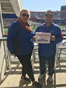 edward attended Florida Gators vs. Idaho Vandals - NCAA Football on Nov 17th 2018 via VetTix