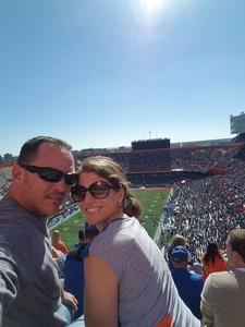 Gene attended Florida Gators vs. Idaho Vandals - NCAA Football on Nov 17th 2018 via VetTix