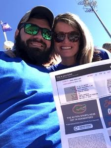Jesse attended Florida Gators vs. Idaho Vandals - NCAA Football on Nov 17th 2018 via VetTix